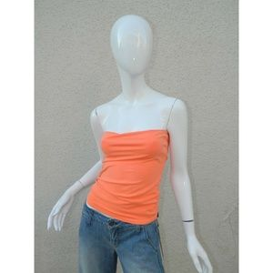 Blue Life TubeTop Built in Bra Orange Sz XS